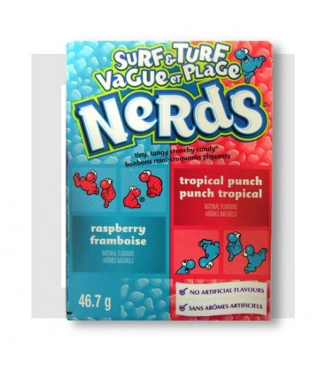 WONKA NERDS SURF a TURF MINI BONBONS FRUITS TROPICAUX-FRAMBOISES