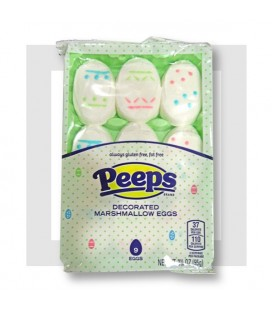 PEEPS CHAMALLOWS 9 ŒUFS DECORES
