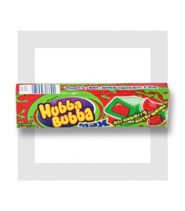 HUBBA BUBBA MAX CHEWING GUMS FRAISE PASTÈQUE