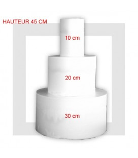 SUPPORT PYRAMIDE EN 3 ETAGES Base 30 cm