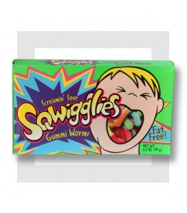 SQWIGGLIES SCREAMIN' WORMS _ BONBONS GÉLIFIÉS ACIDULÉS