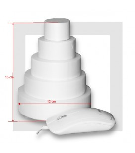 SUPPORT PIECE MONTEE POLYSTYRENE 5 ETAGES Base 12 cm