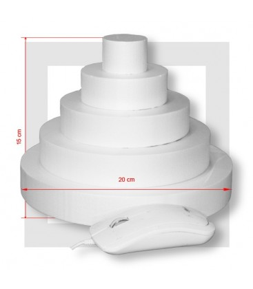 SUPPORT PIECE MONTEE POLYSTYRENE 5 ETAGES Base 20 cm