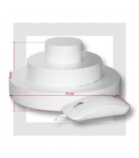 SUPPORT PIECE MONTEE POLYSTYRENE 3 ETAGES base 18 cm