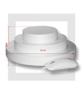 SUPPORT PIECE MONTEE POLYSTYRENE 3 ETAGES base 24 cm