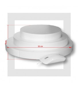 SUPPORT PIECE MONTEE POLYSTYRENE 3 ETAGES Base 30 cm