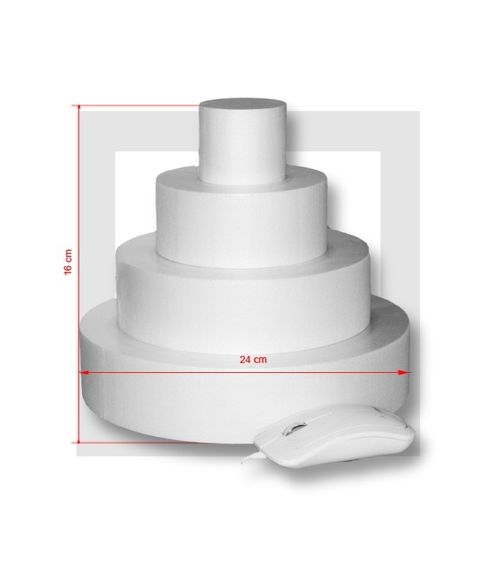 Support piece montee polystyrene 4 etages base 24 cm - Support polystyrene gifi ...
