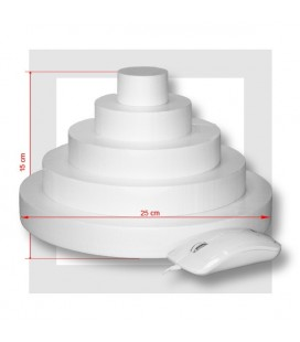 SUPPORT PIECE MONTEE POLYSTYRENE 5 ETAGES Base 25 cm