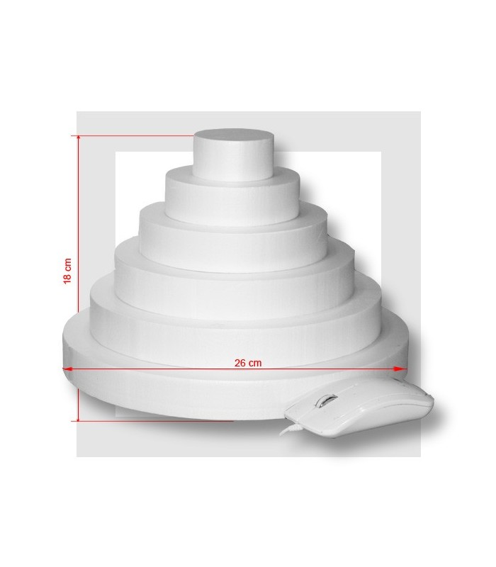 Support piece montee polystyrene 6 etages - Support polystyrene gifi ...
