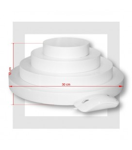 SUPPORT PIECE MONTEE POLYSTYRENE 4 ETAGES base 30 cm