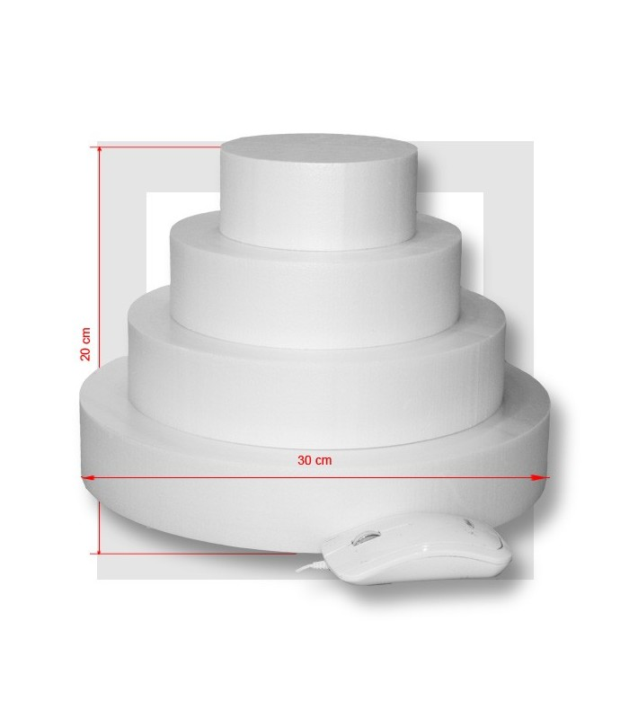 Support piece montee polystyrene 4 etages base 30 - Support polystyrene gifi ...
