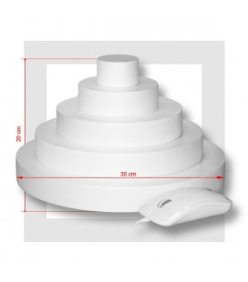 "5 ETAGES Base 30 cm - SUPPORT PIECE MONTEE POLYSTYRENE ""Wide"""