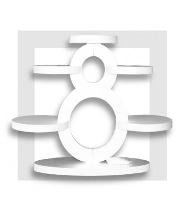 LE GRAND HUIT présentoir en polystyrène