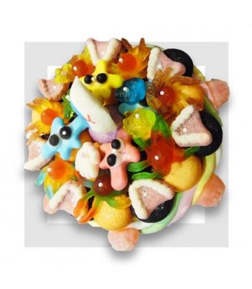 CAÏN tarte aux bonbons pour Halloween de dessus