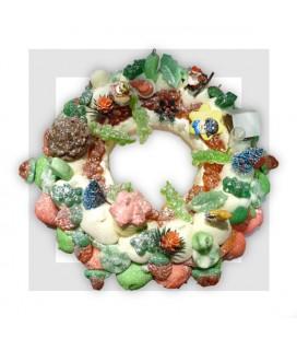 BAREGES - couronne de Noêl en bonbons