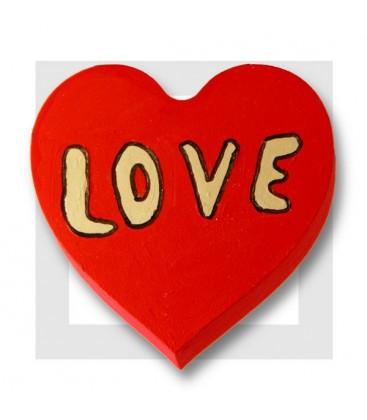 Coeur à peindre en polystyrène - suggestion pour St Valentin