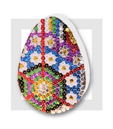 KIT SEQUIN - oeuf de Pâques - modèle brut