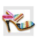 KIT SEQUIN - La Chaussure de Cendrillon avec les champs peints à la gouache.