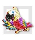 KIT SEQUIN - Le grand Ara - votre réalisation bordée de gouache rouge
