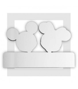 Mickey et Minnie - Décor pour présentoir traiteur en polystyrène