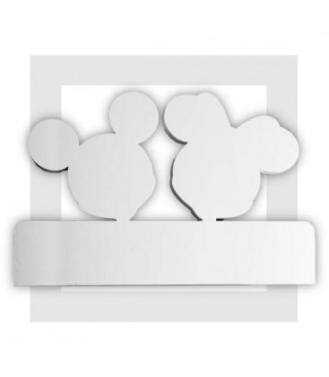 Mickey et Minnie - Fond pour présentoir traiteur en polystyrène
