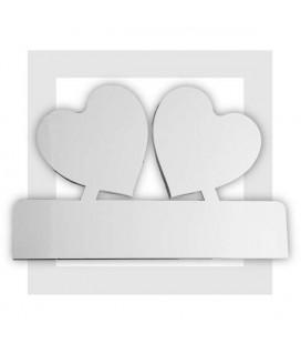 Coeur amoureux - décor de présentoir traiteur en polystyrène