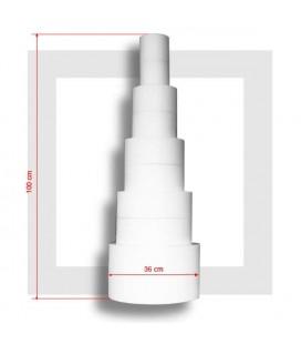 """Pyramide 5 étages , base 36 cm épaisseur 200 mm, """"LA MONEGASQUE"""""""