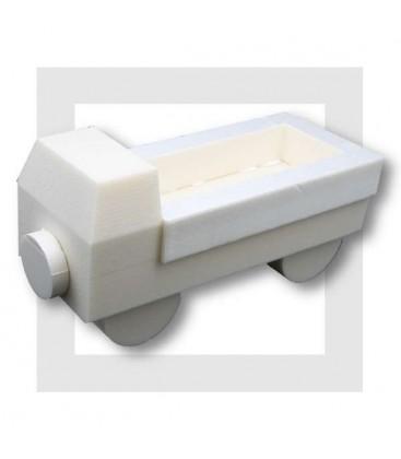 Le Camion benne en 3D - support polystyrene pour composition de bonbons