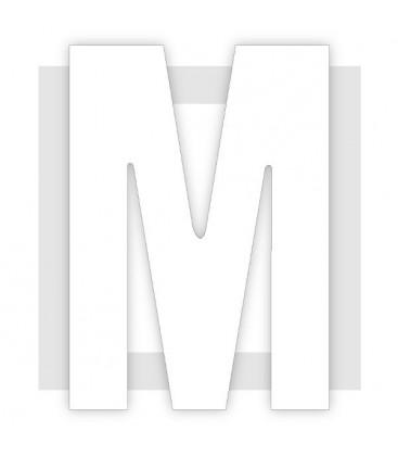 Lettre qui tient debout en polystyrène