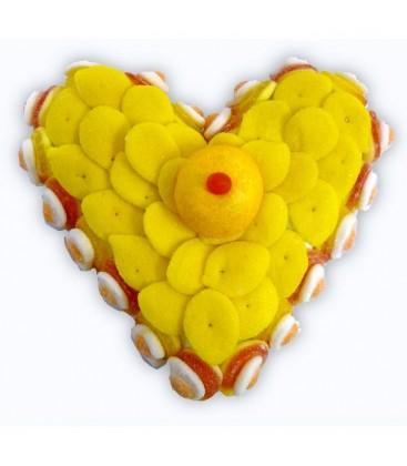 Coeur pêche-citron