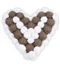 Cœur en Chocolat blanc