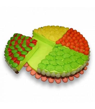 Tarte de bonbons 4 parts