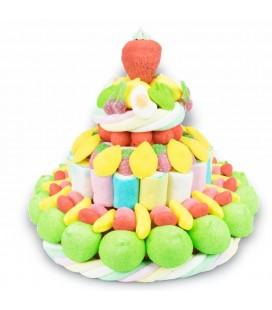 Pièce Montée Tutti Frutti en bonbons