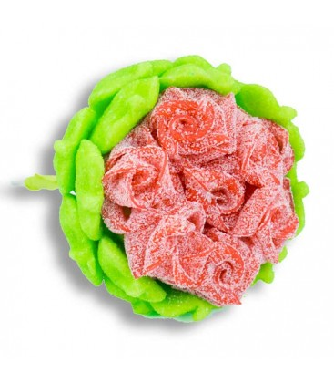 Rose en bonbons-Emballage cellophane seul