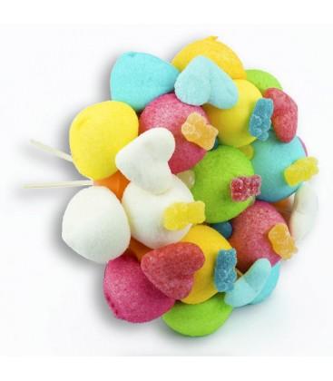 "Bouquet de bonbons ""TE QUIERO""-emballage cello seul"
