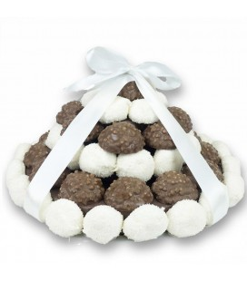 Pièce montée Chocolat ruban Blanc ou Crème