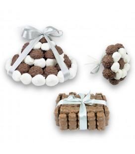 Trio Choco avec ruban personnalisable