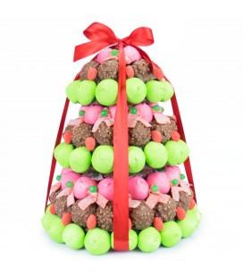 Sapin de Noël en chocolat et bonbons