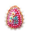 Bel œuf de Pâques fleuri