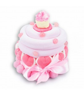Grands Cupcakes de bonbons rose