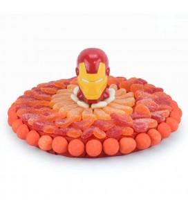 Tarte Iron Man en bonbons