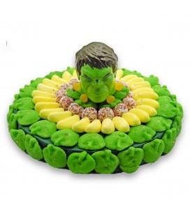 Tarte Hulk en bonbons