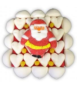 Carrés déco Noël - gâteau de bonbons