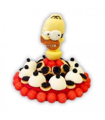 Petite Tarte Homer simpson -gâteau de bonbons