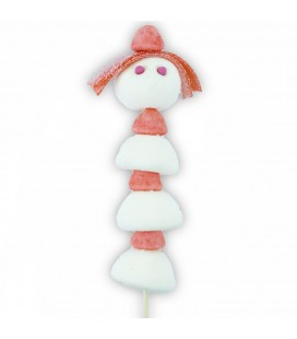 Mademoiselle Poupette en bonbons - Brochette
