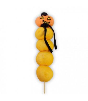 La citrouille orange-Brochette d'Halloween
