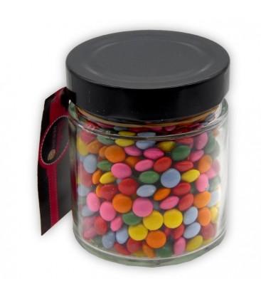 Pot Lisse - Bonbonnière de petites lentilles chocolatées