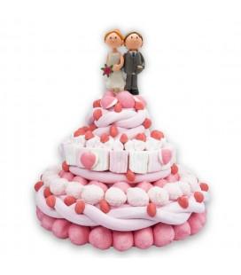 Romeo et Juliette - Pièce montée de bonbons pour mariage