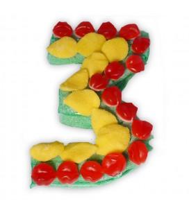 Le chiffre trois en composition de bonbons