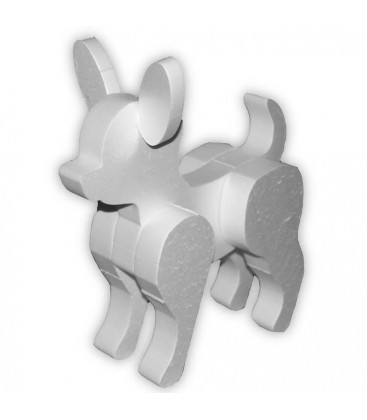 Le petit Chihuahua - chien en polystyrène 3D